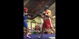 Footage Shows Conor McGregor Landing Cheap Shot In Boxing Match