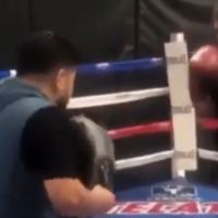 Watch: Andy Ruiz Nearly Knocks Out Trainer By Accident On The Pads