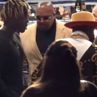 Watch: Floyd Mayweather Meets KSI Ahead of KSI vs Logan Paul 2