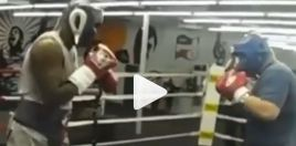 Andy Ruiz Reveals Footage Of Him and Evander Holyfield Sparring