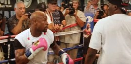 This Roger Mayweather Pad Work With Floyd Speaks For Itself