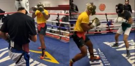 Prince Naseem Hamed's 2 Sons Spar Kell Brook