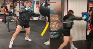 Canelo Shows Off Punching Power For Avni Yildirim Fight