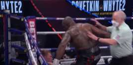 Watch: Dillian Whyte Knocks Out Povetkin Faster Than Joshua