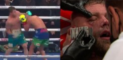 Canelo Stops Saunders Causing Brutal Injury