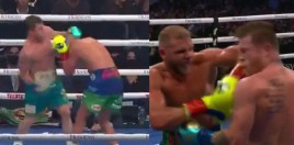 Canelo cracks Saunders with uppercut