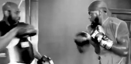 Deontay Wilder Practicing Monstrous Punch For Tyson Fury