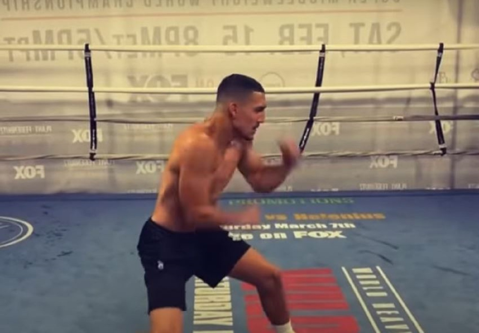 One Of Boxing's Most Exciting Fighters Shows Blinding Hand Speed