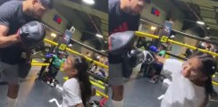 Amir Khan Takes Daughter On The Pads For First Time