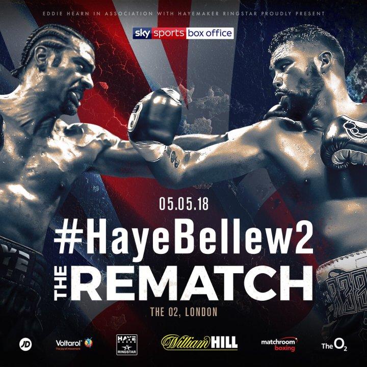 Haye vs Bellew - May 5 - London @ London, UK | London | England | United Kingdom