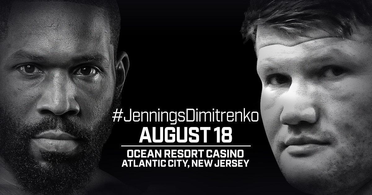 Jennings vs Dimitrenko - August 18 - Atlantic City @ Atlantic City | Atlantic City | New Jersey | United States