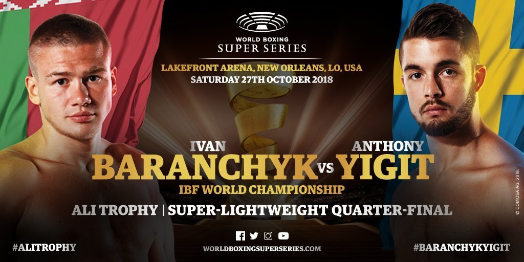 Baranchyk vs Yigit - October 27 -  New Orleans @ New Orleans  | New Orleans | Louisiana | United States