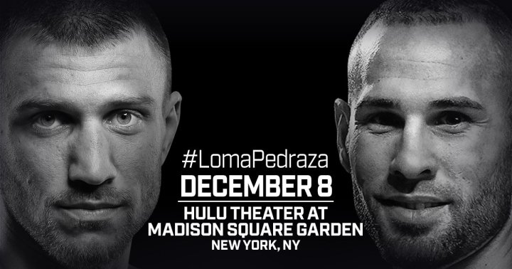 Lomachenko vs Pedraza - December 8 - MSG, NYC @ New York | New York | New York | United States