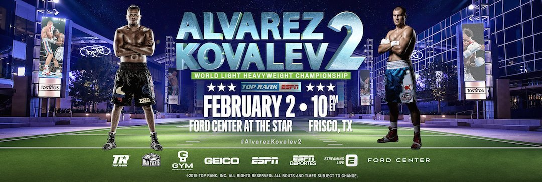 Alvarez vs  Kovalev 2 - February 2 - Texas @ Frisco, TexasFord Center at The Star in Frisco, Texas | Frisco | Texas | United States