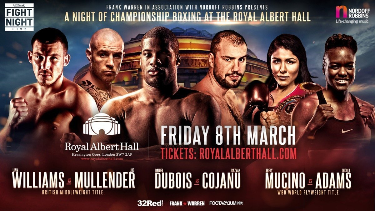 Dubois vs Cojanu  - March 8 - London @ London | London | England | United Kingdom