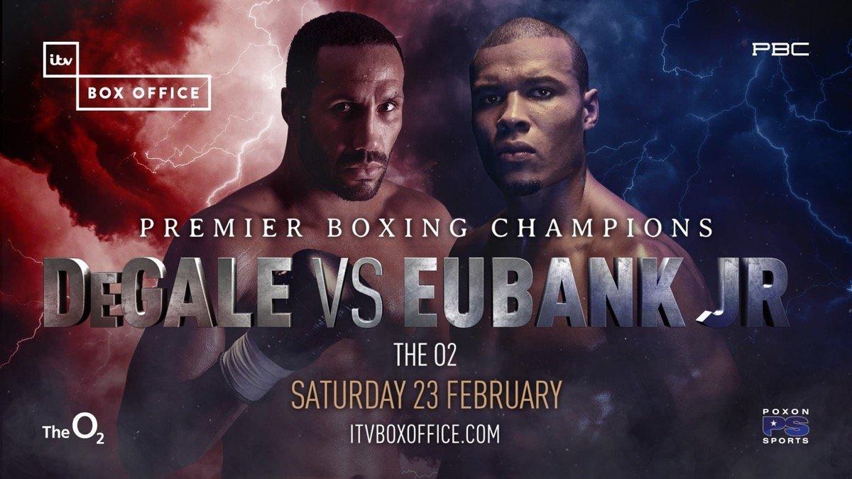 Degale vs Eubank Jr - February 23  – London @ London's O2  | London | England | United Kingdom