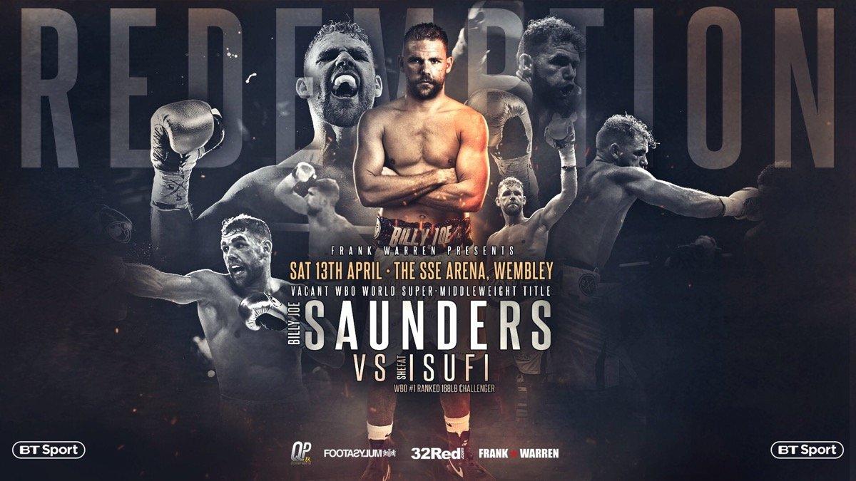 Saunders vs Isufi  – TBA  – BT Sport