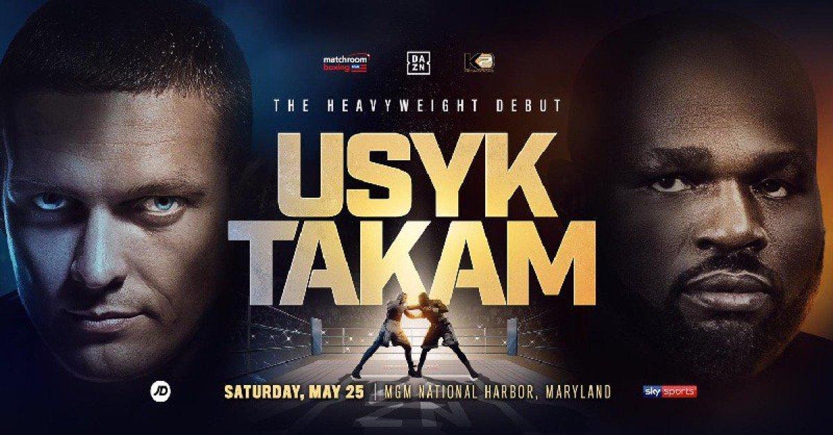 Usyk vs Takam- May 25 – DAZN