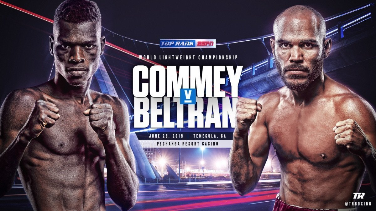 Commey vs.  Beltran - June 28 - ESPN @ Pechanga Resort Casino in Temecula, California | Temecula | California | United States