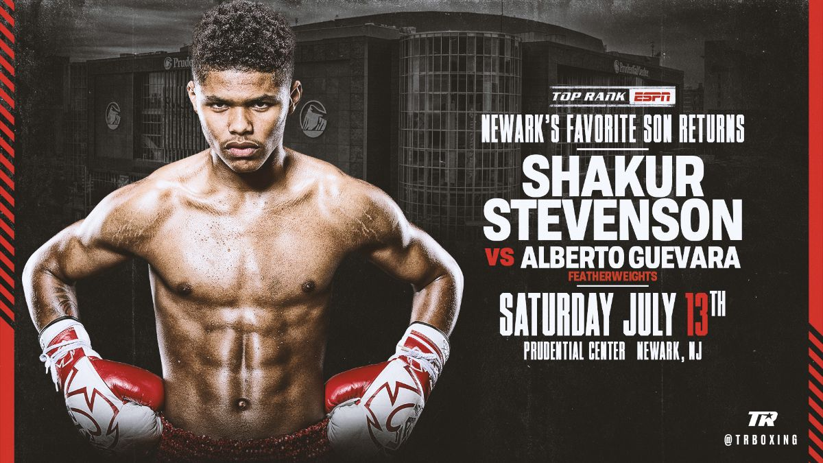 Stevenson vs Guevara - July 13 - ESPN @ Prudential Cente | Newark | New Jersey | United States