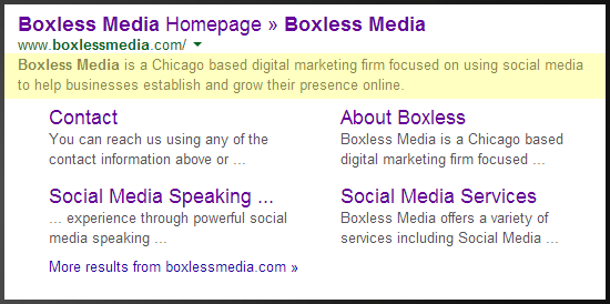 Boxless Media on Google