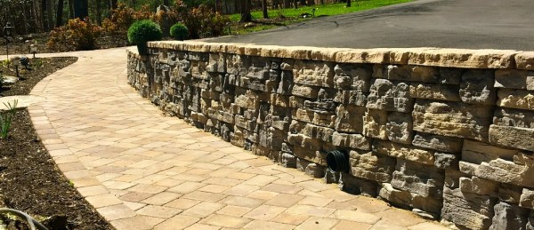 natural with stone wall