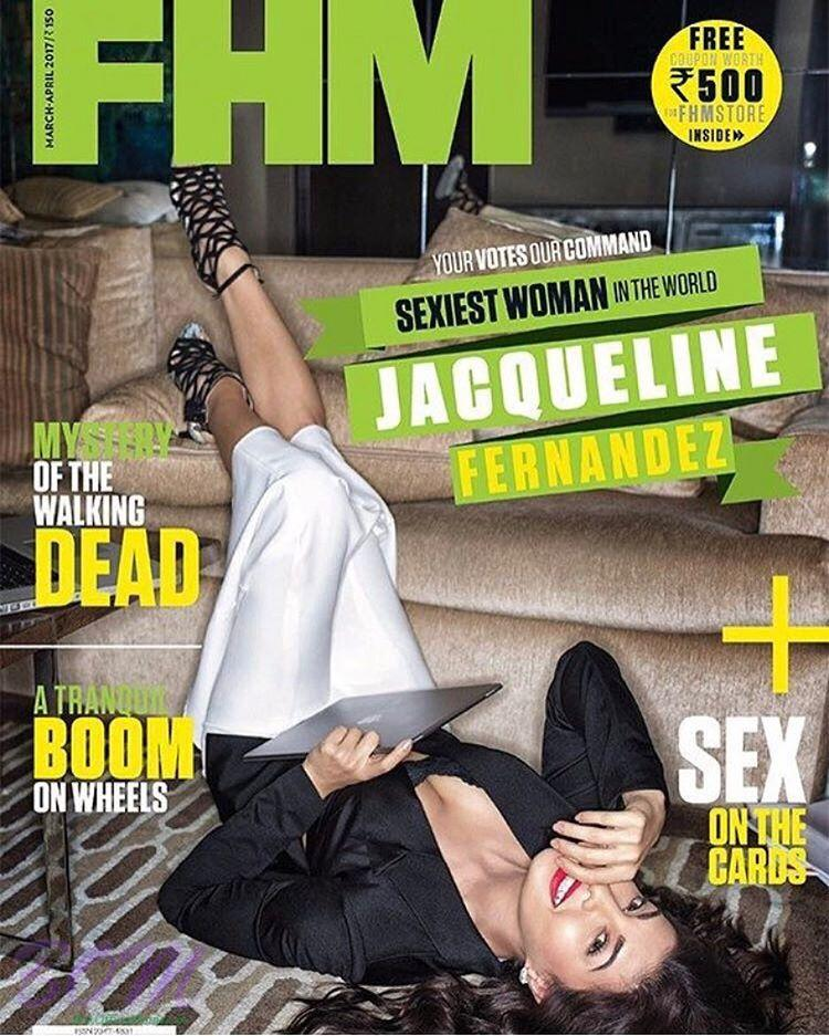 Jacqueline Fernandez cover girl for FHM India Mar-Apr 2017 issue
