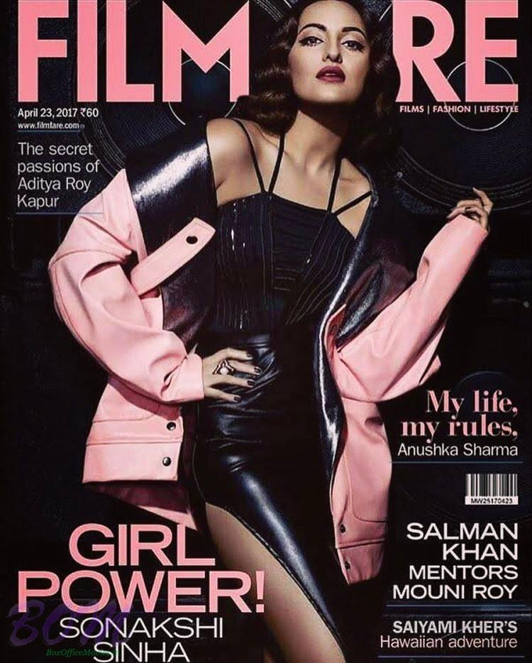 Noor Sonakshi Sinha cover girl for Filmfare magazine April 2017 issue