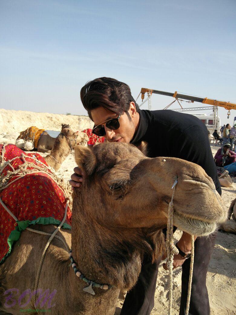 Vidyut Jammwal whispering a Camel