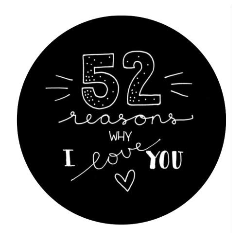 52 reasons why I love you... zwart