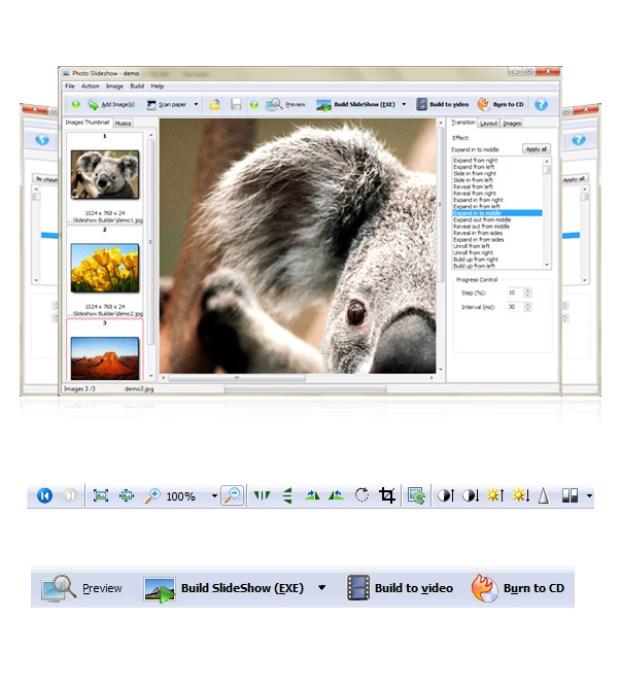 Boxoft screenshot of photo slideshow