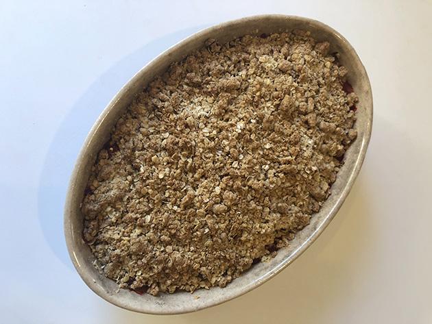 Freshly baked crumble