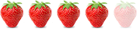 Ease of strawberry picking is 4 out of 5