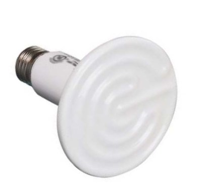 Ceramic heat emitters give off heat but no light.