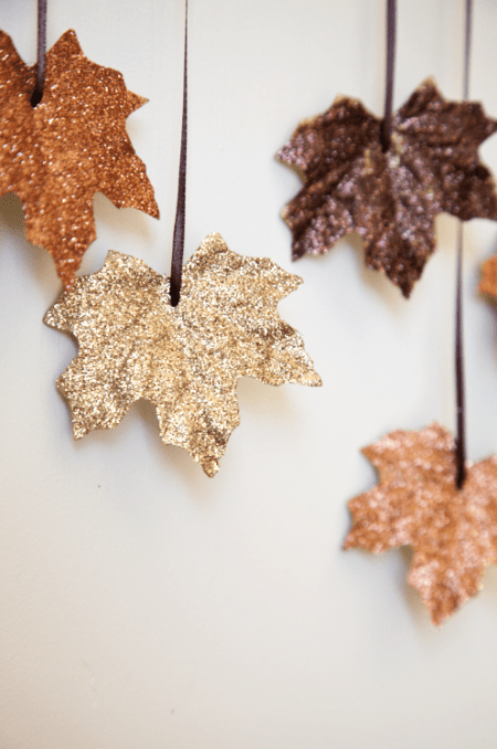 DIY Glittery Falling Leaves Garland | House of Jade