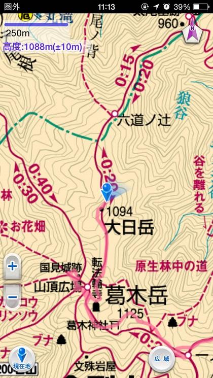 大日岳すぎ地図