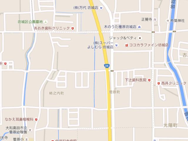 グーグルマップ境界線