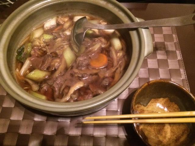 ジビエ鴨鍋