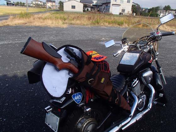 バイクで狩猟