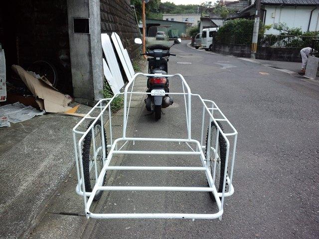 二輪車で獲物を運搬?狩猟で原付(自転車)+リヤカー牽引の可能性。