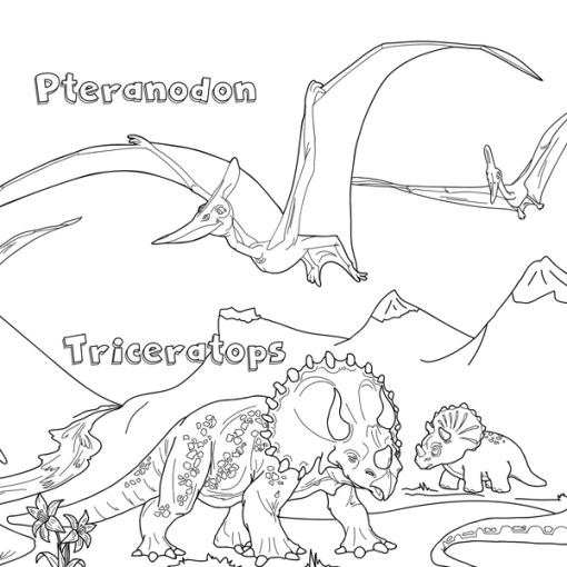 dinozorlar boayama kağıdı 1