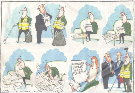 Times cartoon about Workfare