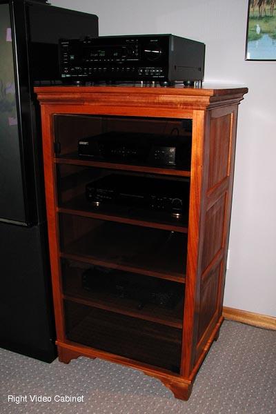 Mahogany AudioVideo Cabinets