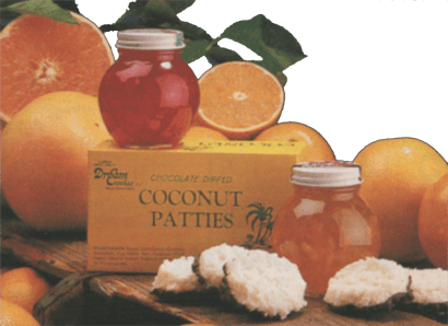 Florida oranges, grapefruit, tangerines, coconut patties, tropical jams