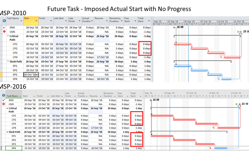Out-of-Sequence Progress in Microsoft Project 2010-2016