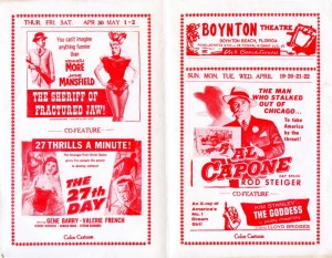 1959 Boynton Theatre Flyer