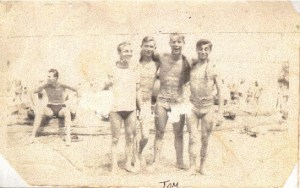 A group of young people enjoying the time at the shore.