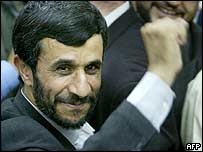 Mahmoud Ahmadinejad voting on 24 June 2005