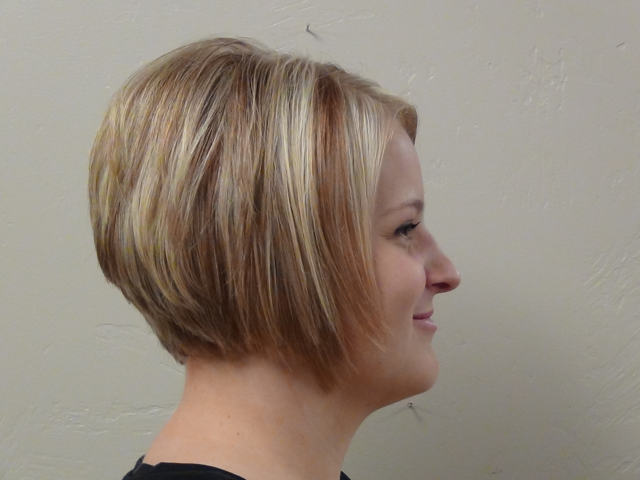 Thicken Hair with A Line Haircut or Bob Cut Hairstyle Update