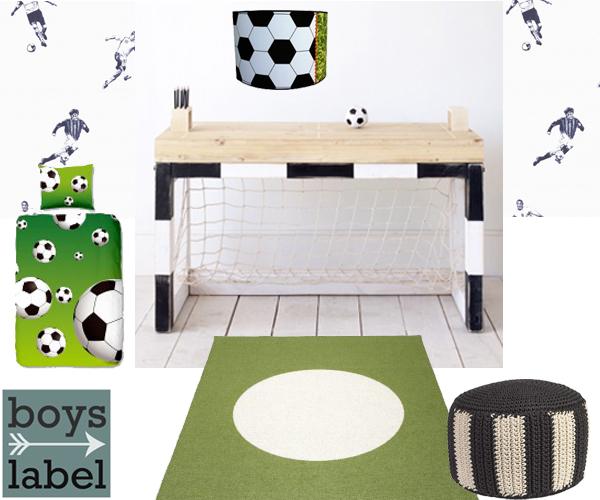 Voetbal accessoires kinderkamer  Studio kop en schotel